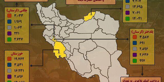 اینفوگرافی از وضعیت مسکن استانهای سیل زده کشور