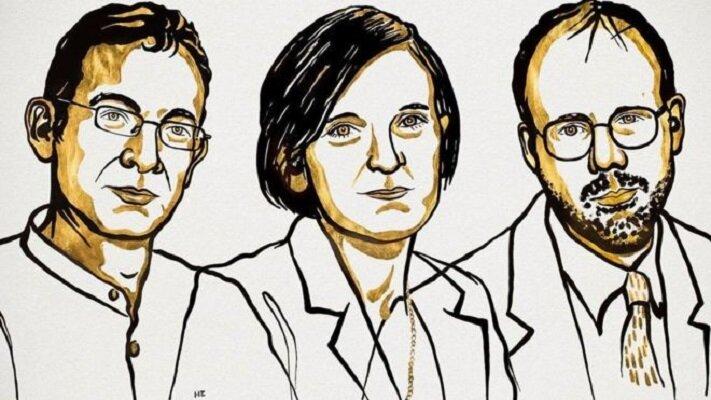 آبیجیت بانرجی محقق هندی-آمریکایی ، استر دوفلو محقق فرانسوی-آمریکایی و مایکل کرمر از آمریکا