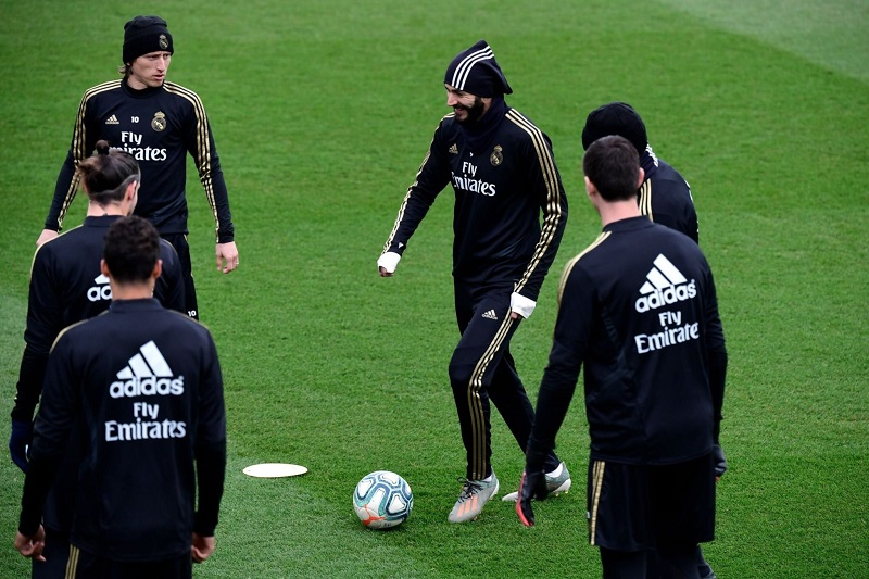 آخرین تمرین بازیکنان رئال مادرید پیش از بازی برابر بارسلونا2