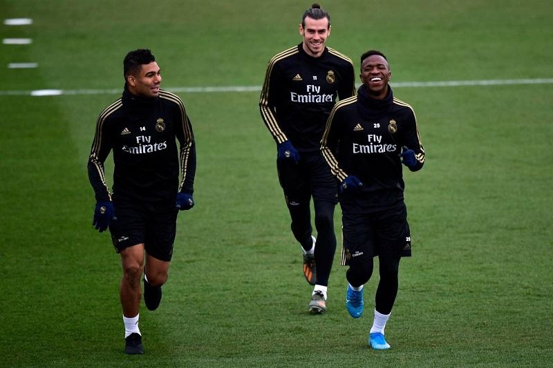 آخرین تمرین بازیکنان رئال مادرید پیش از بازی برابر بارسلونا3