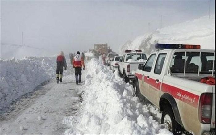 امدادرسانی به ۷هزار نفر در حوادث برف و باران و کولاک هفته گذشته در ۲۱ استان