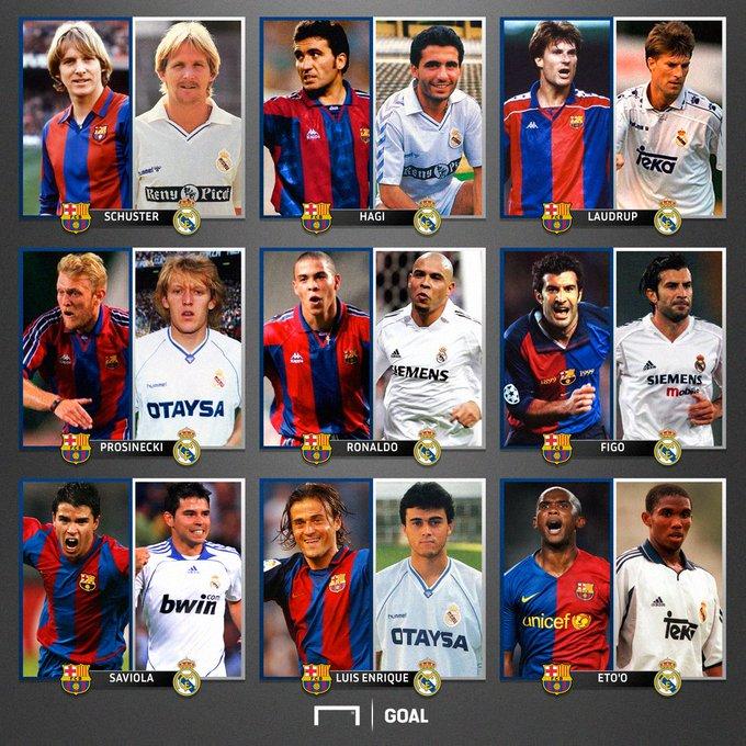 بازیکنان بزرگ و مشترک بارسلونا و رئال مادرید به بهانه ال کلاسیکو فردا شب در استادیوم نوکمپ