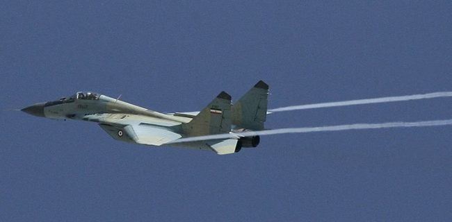سقوط یک فروند میگ ۲۹ نهاجا/ جستجوها برای یافتن خلبان ادامه دارد