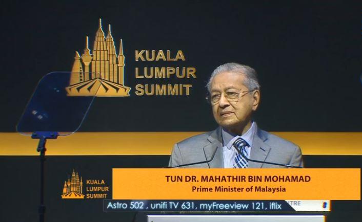 ماهاتیر محمد رهبر مالزی در اجلاس کوالامپور