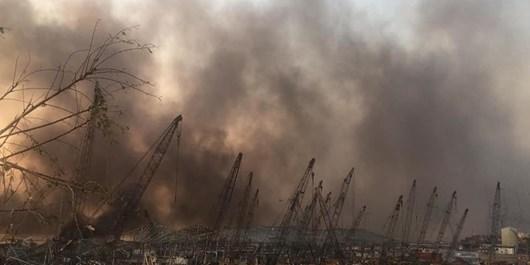 انفجار در بندر بیروت لبنان ؛ صدها کشته و زخمی و اعلام سه روز عزای عمومی + ویدیو و عکس