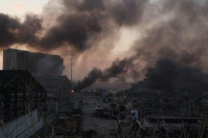 انفجار در بندر بیروت لبنان ؛ صدها کشته و زخمی و اعلام سه روز عزای عمومی